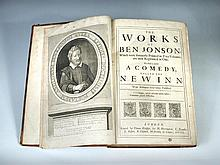 JONSON (Ben) The Works, to which is added a Comedy called the New Inn, London 1692, folio, portrait frontispiece, occasional b...