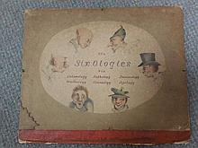 'The Six Ologies', an early 19th century group of six coloured caricature lithographs, trimmed and laid down, captions below,...