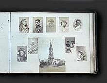 Photograph album, with various scenes circa 1880 or later,  apparently including 58 of New Zealand interest, a few captioned b...