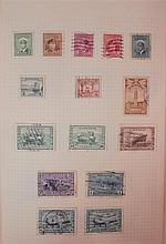 Three albums of stamps, an album of First Day covers and an envelope of loose, mainly Commonwealth