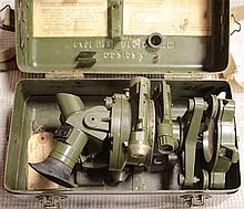 A Mk V Director No.7 Artillery fire control sight, in a MK III steel case