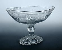 A late 18th century Irish glass standing bowl, probably Cork,