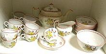 A New Hall type tea service,