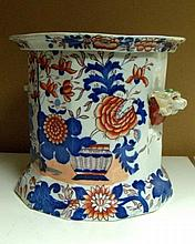 An early 19th century Mason's ironstone ice pail and liner,
