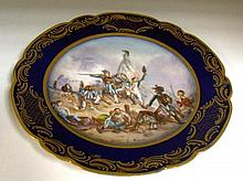 A late 19th century 'Sevres' plate