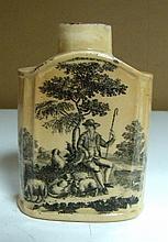 An 18th century Wedgwood creamware tea caddy