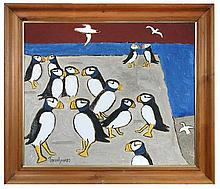 § Julian Trevelyan (British, 1910-1988) - Puffins -  signed and dated lower left