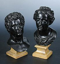 Two 18th Century Italian bronze portrait busts after the Antique,
