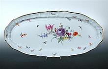 An early 20th century Meissen fish platter