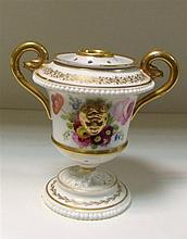 A Swansea two handled urn and cover,