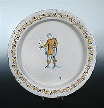 An Italian maiolica dish, possibly 16th century,