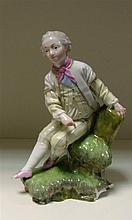 A 19th century Hochst figure