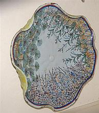 An 18th century Chinoiserie faience dish, possibly Castelli,