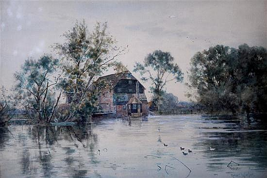 Robert Winter (British, 1856-1921) Houghton Mill signed bottom right