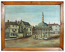 English Provincial School after George Frost (late 18th-early 19th Century) - The Market Cross, Ipswich, Suffolk
