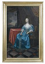 After Sir Anthony van Dyck (Flemish, 1599-1641) Portrait of Queen Henrietta Maria, oil on canvas