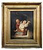 August de Wilde (Belgian, 1819-1886) Stolen Vanity, oil on canvas