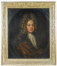 Circle of Sir Godfrey Kneller (British, early 18th Century) Portrait believed to be of John Robinson of Denston, oil on canvas