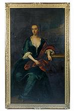Follower of Sir Godfrey Kneller (British, early 18th Century) Portrait of Mary, Lady Dayrell of Shudy Camps, oil on canvas