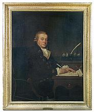 Attributed to John Rising (British, 1753-1817) Portrait of Richard Crop of Westoe Lodge, oil on canvas