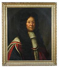 Attributed to John Riley (British, 1646-1691) Portrait of a gentleman, possibly a judge or magistrate, oil on canvas