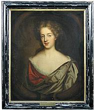 Atrributed to Mary Beale (British, 1632-1697) Portrait of an unknown lady, probably a Johnstone of Pontefract, oil on canvas