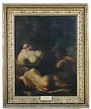 Carlo Cignani (Bologna, 1628-1719, Forlì), Charity, oil on canvas