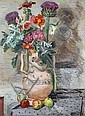 Vanessa Bell -  Bell Still Life of Flowers and Thistles - signed lower right