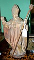 A terracotta figure of a prelate, possibly Pius VII, papacy from 1800-1823,