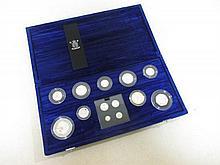 Royal Mint Millennium Silver Collection, £5 - 1p