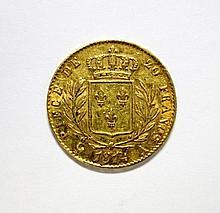 France gold 20 Francs, 1814,