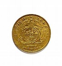 South Africa - gold one Pond coin, 1898,