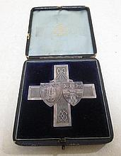 An Oxford and Cambridge Rifle Match, Wimbledon 1888, cruciform silver prize medal, 68mm, engraved to reverse to Pte. Emery, Trinity...