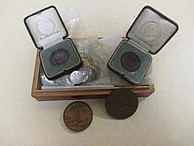 Medallions, Death of William Pitt the younger, 1806 by Thomas Webb, obv bust 'Gulielmo Pitt R.P.Q.B', rev 'Patriae Columen Decus',