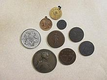 Medallion- a 1757 Friedrich de Grosse medal on Brandenburg, Silesia bronze F or better, together with a 1830 'For Public Accommodati..