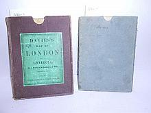 DAVIES'S Map of London and its Environs, scale 2 inches to a mile, folding engraved hand coloured dissected map in cloth case...