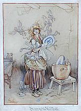 A quantity of Frank Watkins illustrations