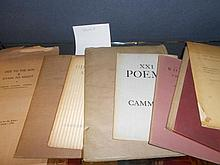CAMMELL (Charles Richard)  Eight slim volumes, mainly  poetry, and inscribed by the author to Professor Geoffrey Bickersteth,...
