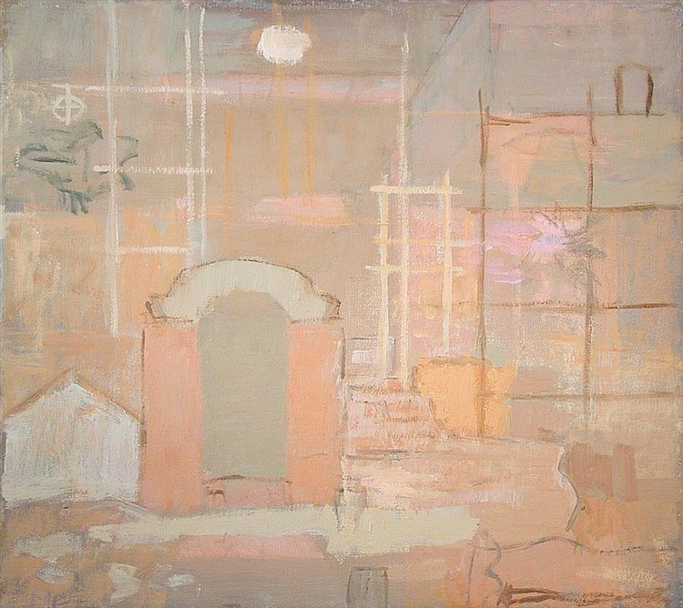 § Mary Potter (British, 1900-1981) - Building, 1973 - signed lower left with initials