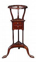A George III revival mahogany wash stand,
