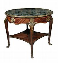 A French ormolu mounted kingwood centre table, circa 1880