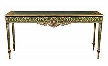 An Adam revival painted and parcel gilt console table, circa 1905