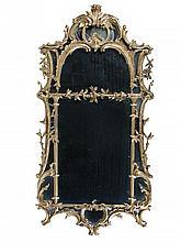 A George II gilt wood framed pier glass, circa 1750