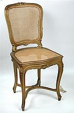 A gilt framed salon chair, circa 1905