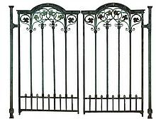 A pair of bronze gates,