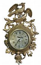 John Goodwin, London, a George III giltwood cartel timepiece,
