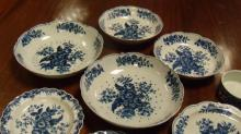 A collection of first period Worcester blue and white wares,