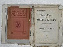 A collection of socialist, anarchist, communist pamphlets and monographs, mainly 19th century, including numerous Socialist Le...