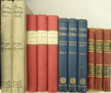 BLACK (William) Sabina Zembra, A Novel, three vol., Macmillan 1887, cloth; BRADDON (Mary E.) Robert Ainsleigh 3 vols., Copyrig...