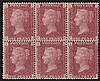 1d plate 165, unmounted mint block of 6 (CJ/DL),